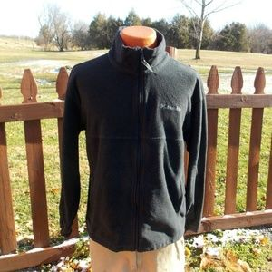 Columbia Black Mens Fleece Jacket Size Large